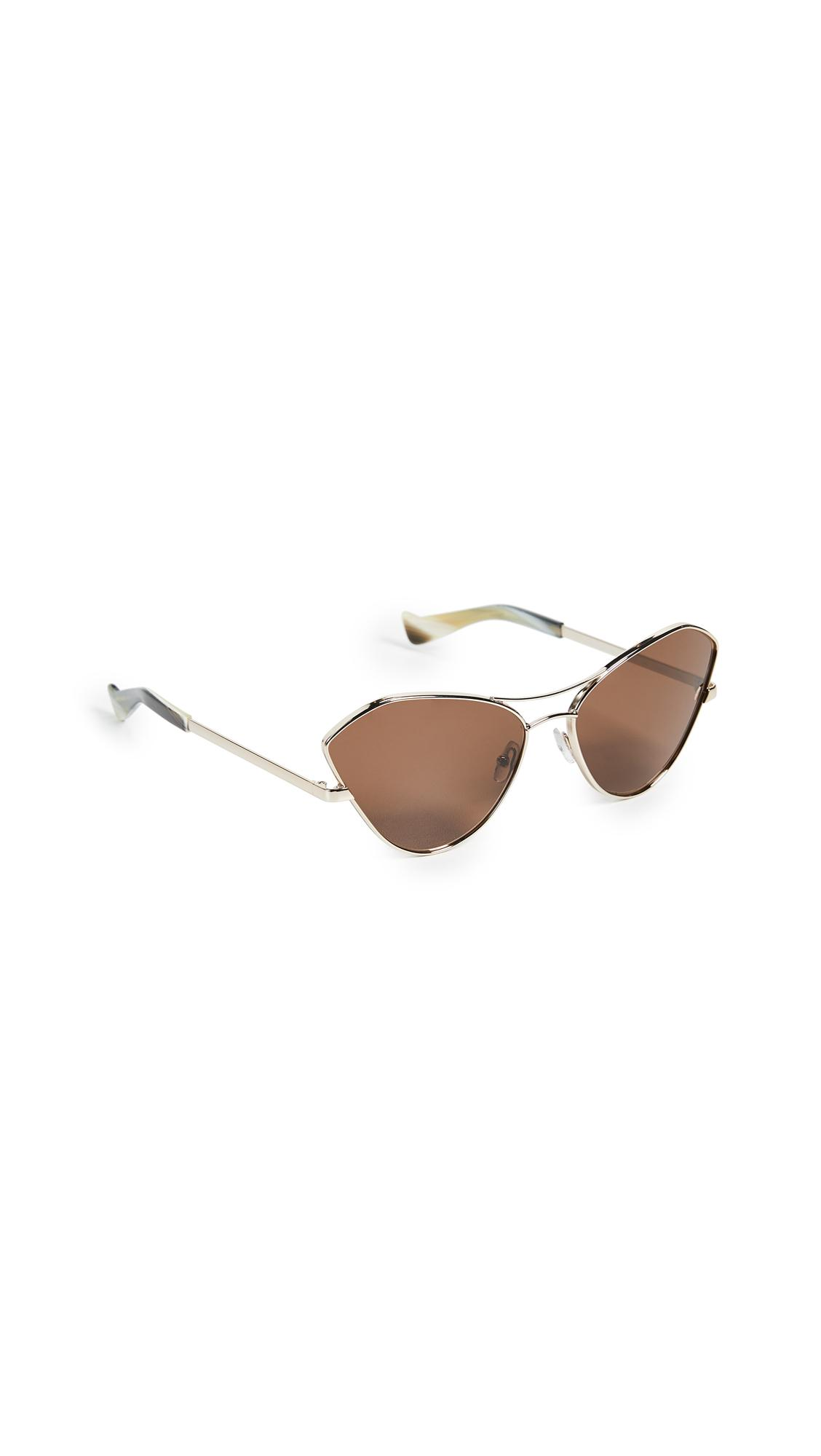142533fa190 Grey Ant Fluxus Sunglasses In Gold Brown