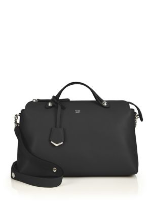 Fendi By The Way Large Leather Satchel In Black