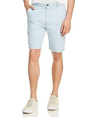 7 For All Mankind Twill Chino Shorts In Light Blue