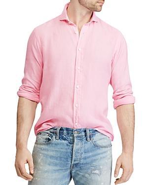 cda3f5378f09 Polo Ralph Lauren Linen Classic Fit Button-Down Shirt In Pink | ModeSens