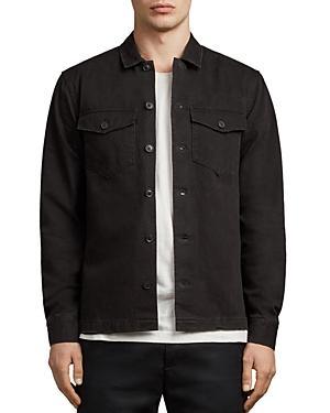 Allsaints Encamp Regular Fit Button-Down Shirt In Washed Black