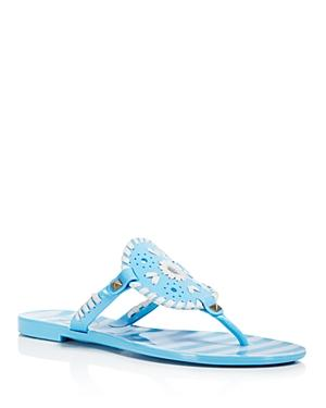 0feb241700a9 Jack Rogers Women s Georgica Striped Jelly Thong Sandals In Blue White
