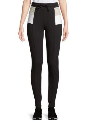Wildfox Colorblock Cotton Jogger Pants In Black Multi