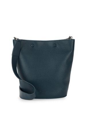 da2a8f626e07 Classic leather bucket bag with textured finish