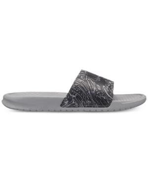 645a30dd78dbc9 Nike Men S Benassi Jdi Print Slide Sandals From Finish Line In Wolf  Grey Anthracite