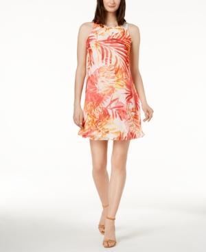 Calvin Klein Trapeze Dress, Regular & Petite Sizes In Watermelon