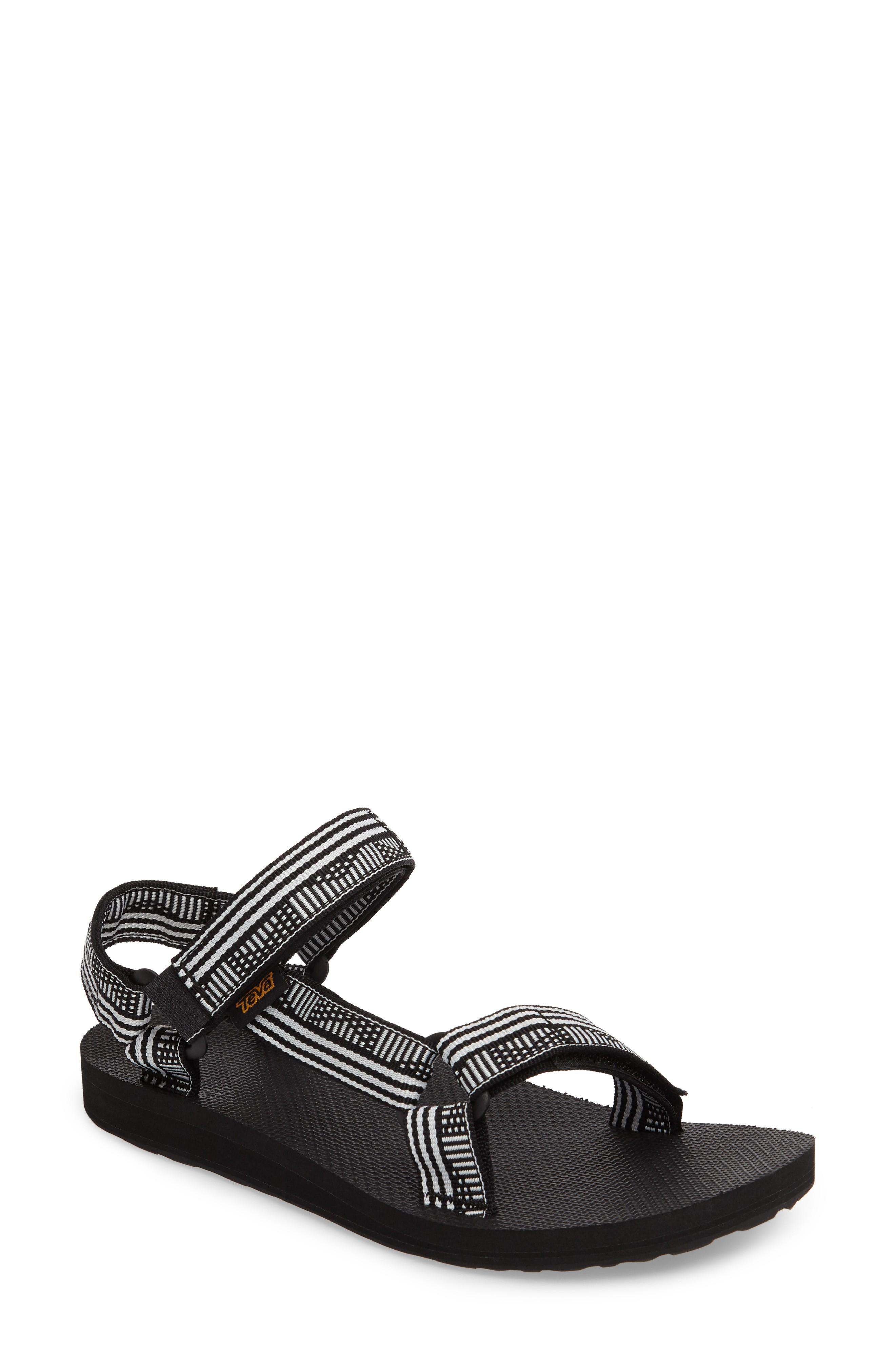 871c66157d8f98 Teva  Original Universal  Sandal In Campo Black  White Fabric