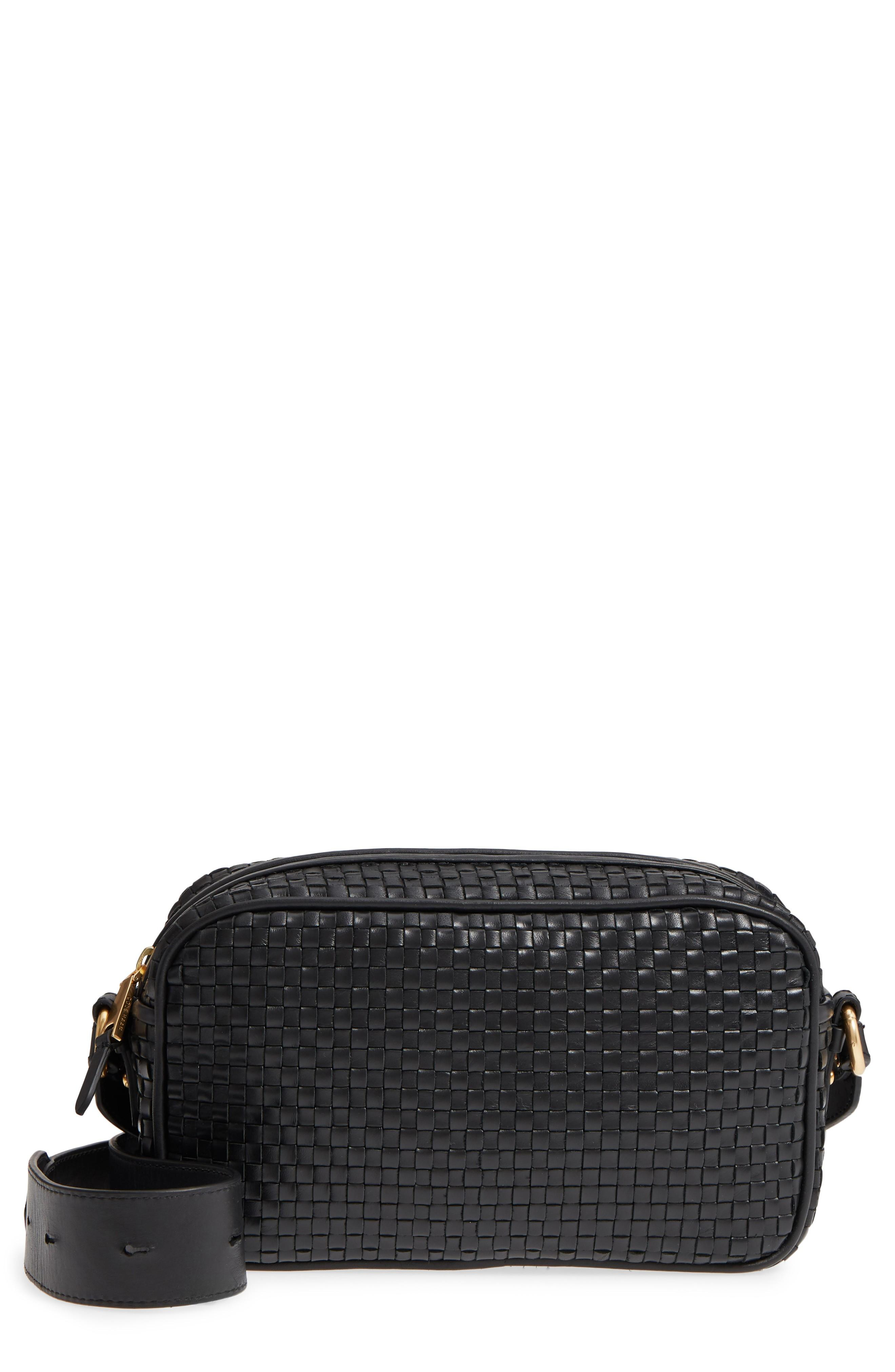 eb34a4d0f3 Cole Haan Zoe Rfid Woven Leather Camera Bag - Black | ModeSens
