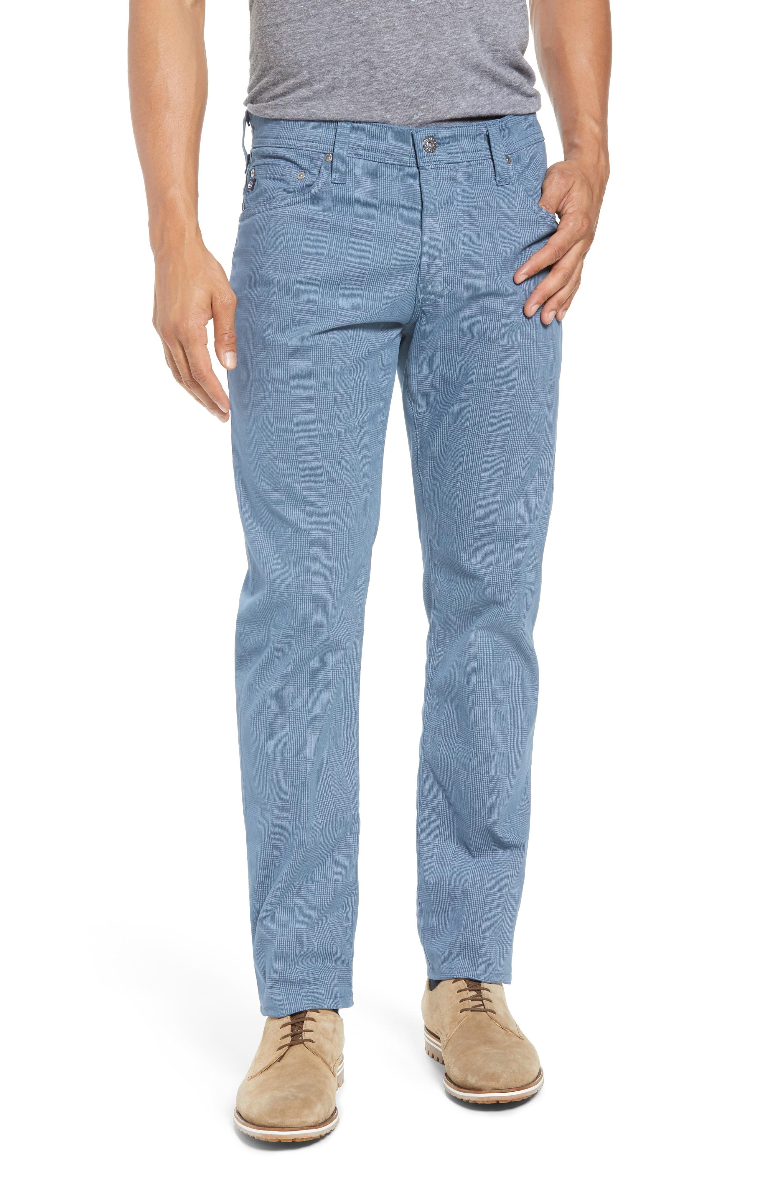 4b18f217 Ag Tellis Slim Fit Stretch Plaid Pants In Mosaic Blue Fpdmcb   ModeSens