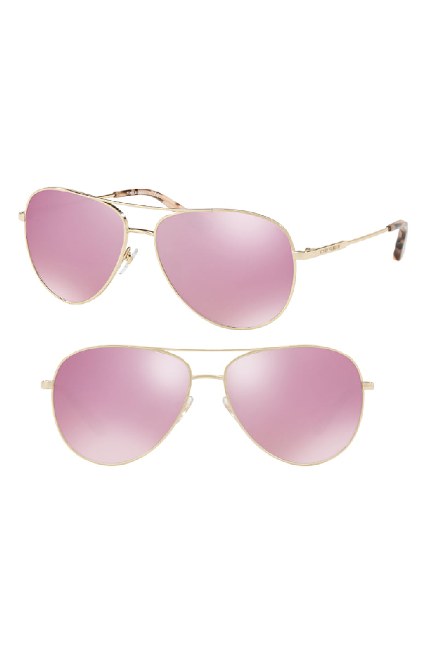 e06d83996b50 Tory Burch 59Mm Thin Metal Aviator Sunglasses - Pink | ModeSens