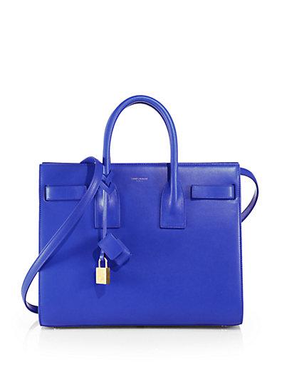 Saint Laurent Nano Sac De Jour Souple Bag In Royal Blue Grained Leather In Royal-Blue