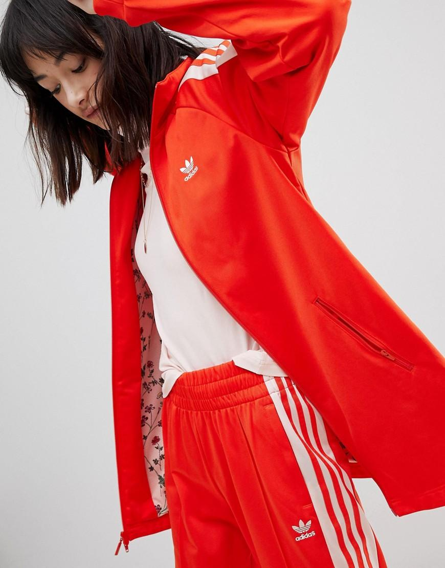 dff6efb45ec Adidas Originals Track Jacket In Red And Pink - Red | ModeSens