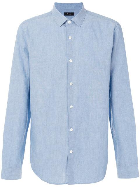 Theory Classic Plain Shirt - Blue