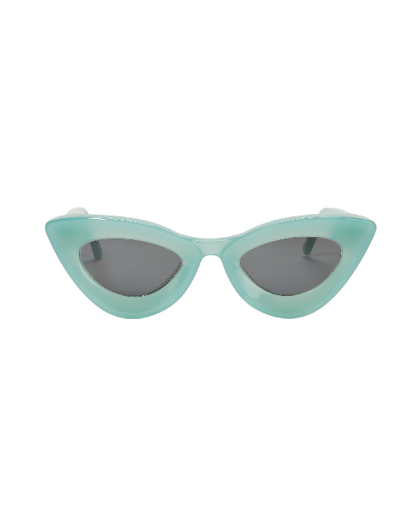 Grey Ant Cat Eye Sunglasses In Green-Lt