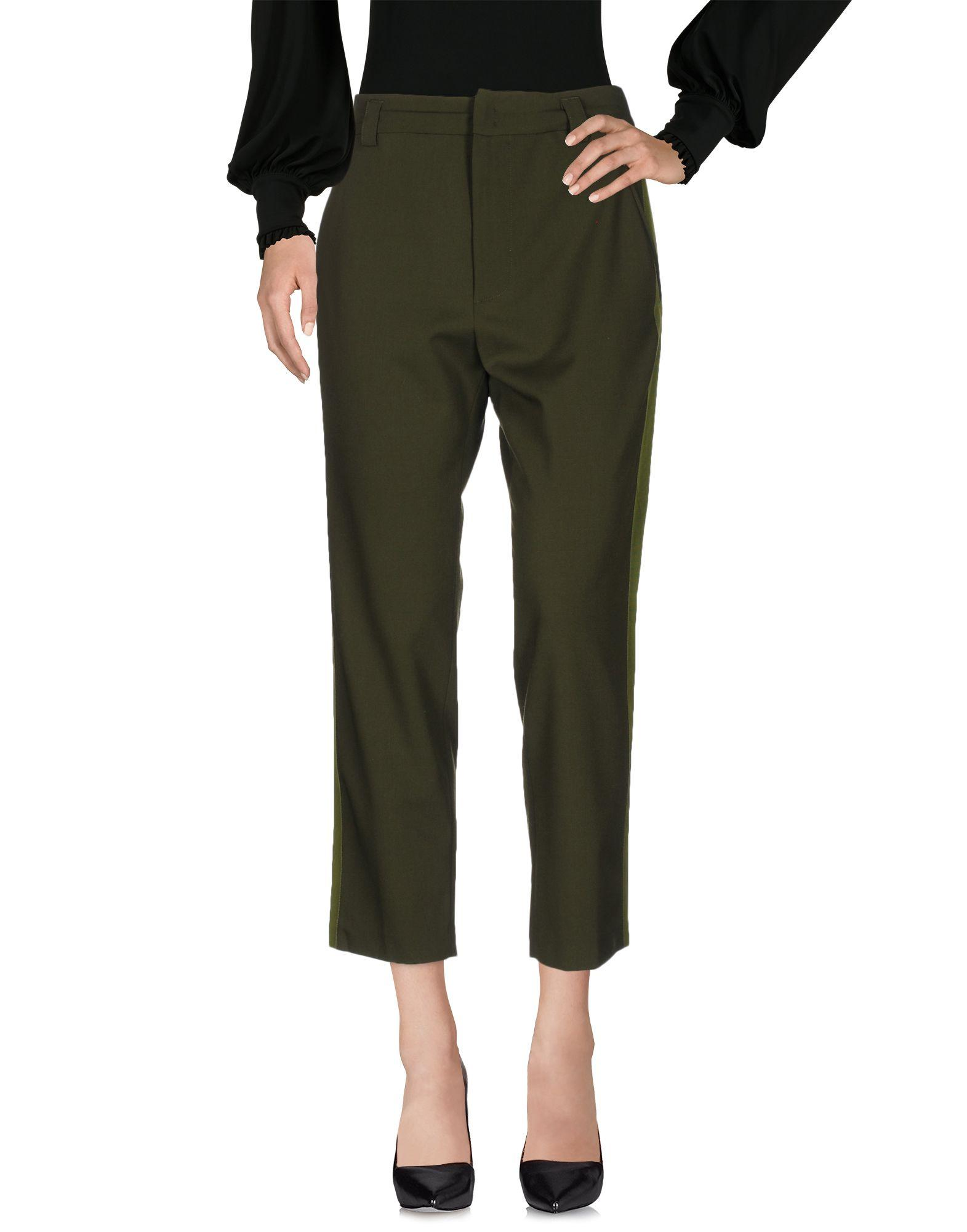 Pinko Casual Pants In Military Green