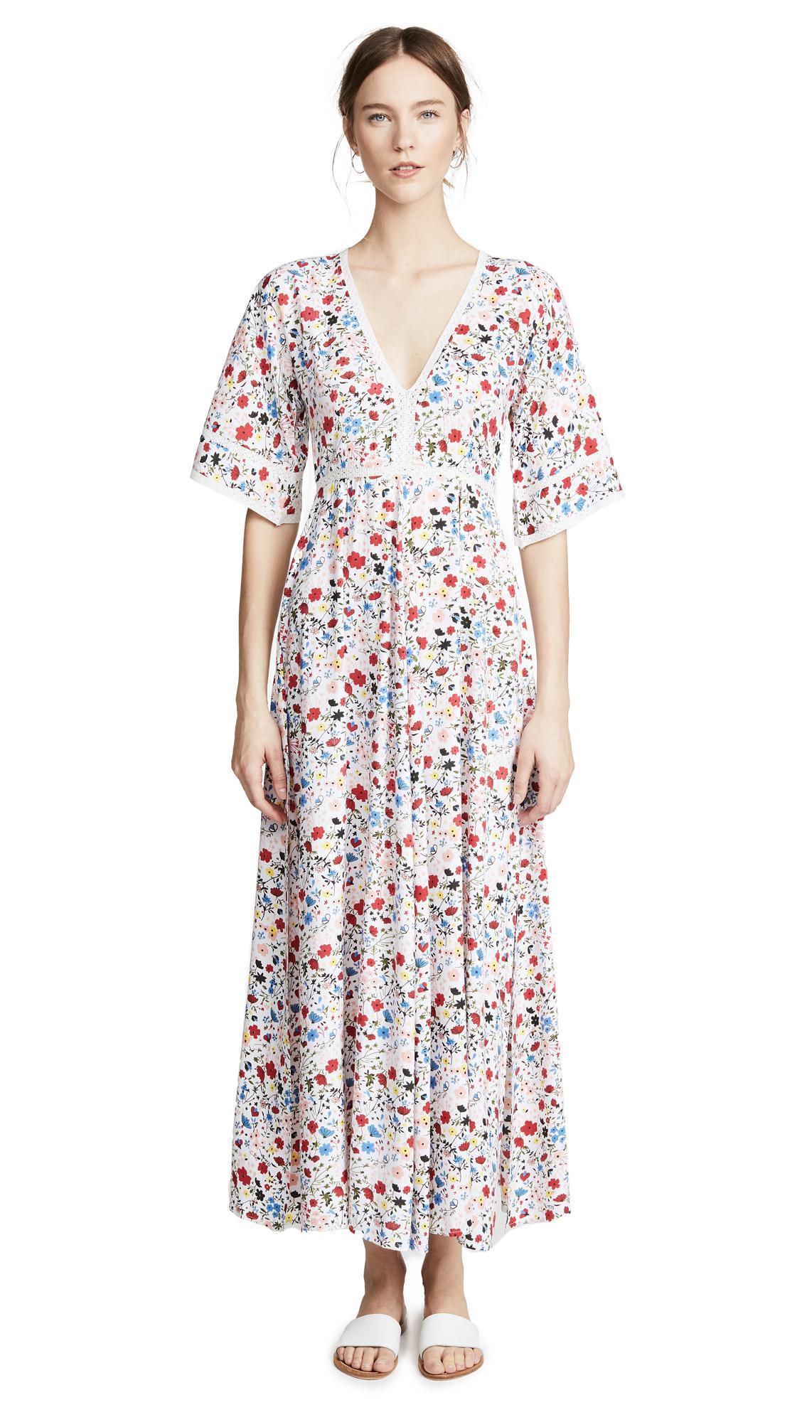 9541bb3040 Kos Resort V Neck Maxi Dress In Floral