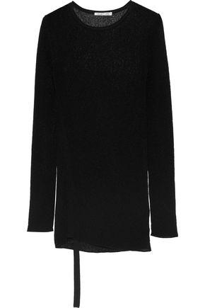 Helmut Lang Woman Open-knit Sweater Black