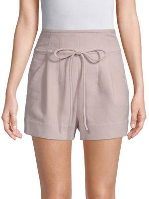 Iro Cotton-Blend Shorts In Old Pink