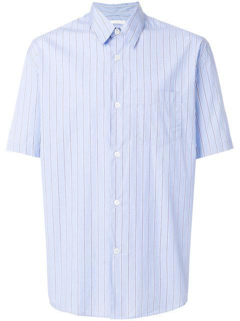 Our Legacy Striped Short-Sleeve Shirt - Blue
