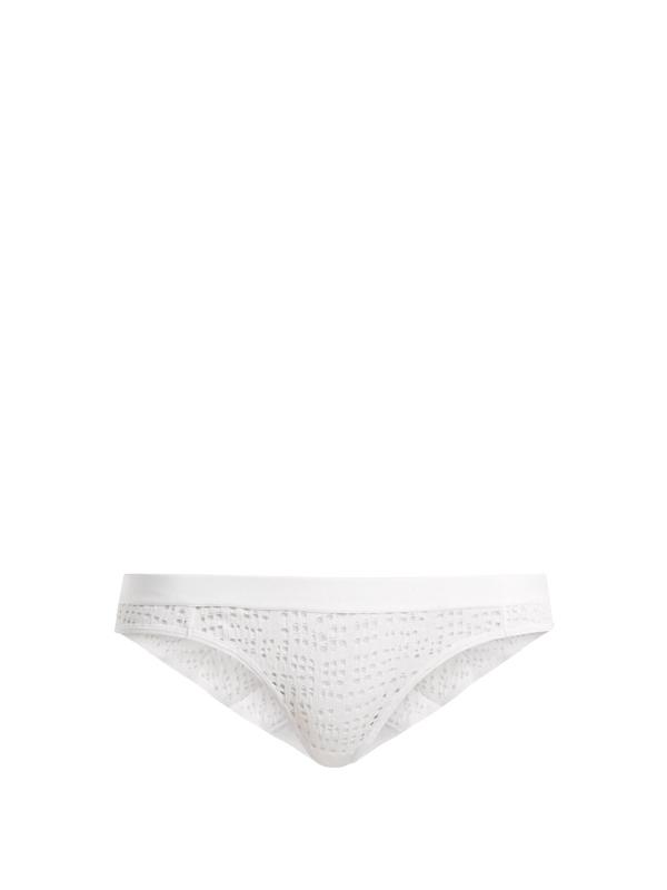 Negative Underwear Essaouira Mesh Briefs In White