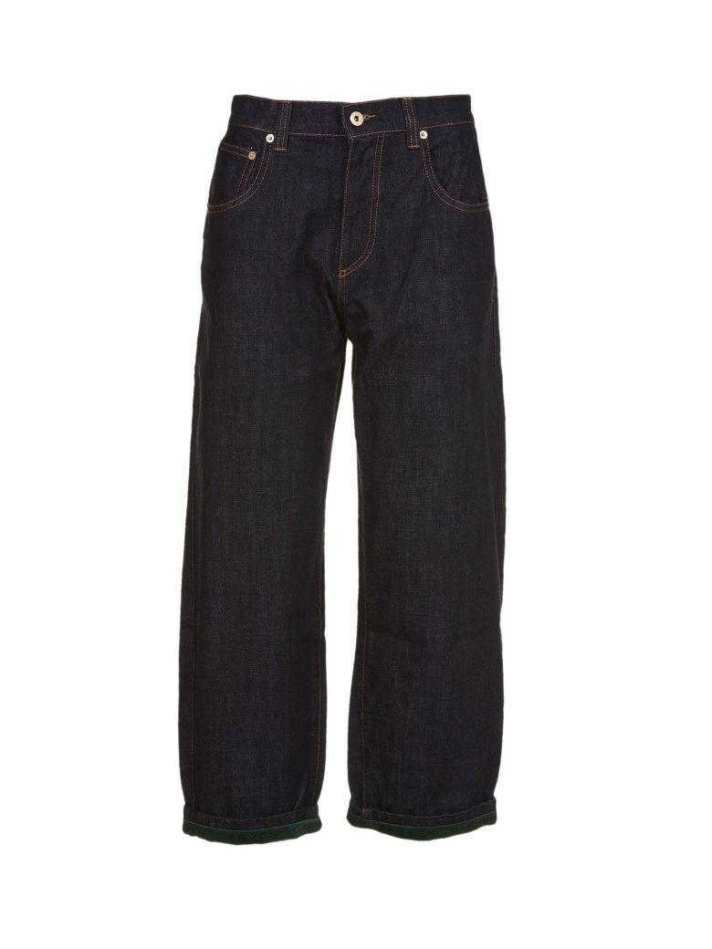 Carven Straight Cropped Jeans In Blu