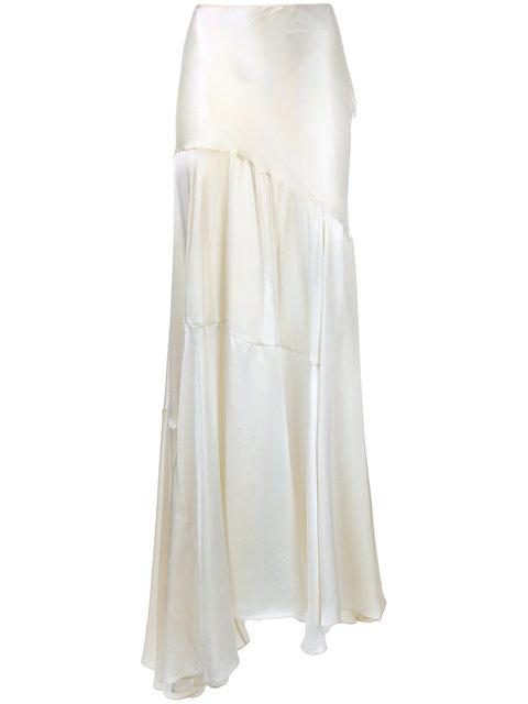 Simone Rocha Draped Maxi Skirt In White