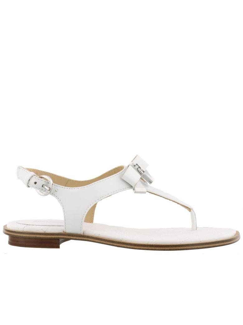1d770b0a16b Michael Kors Alice Thong Sandals In Optic White