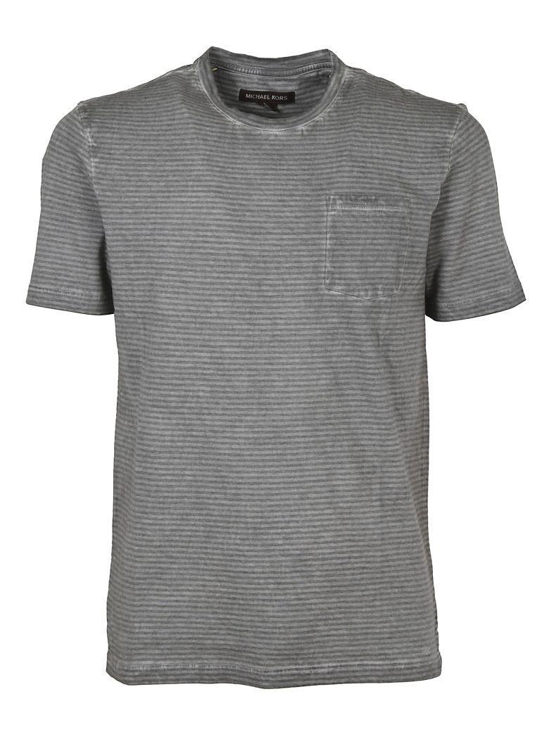Michael Michael Kors Michael Kors Patched Pocket T-Shirt In Grey