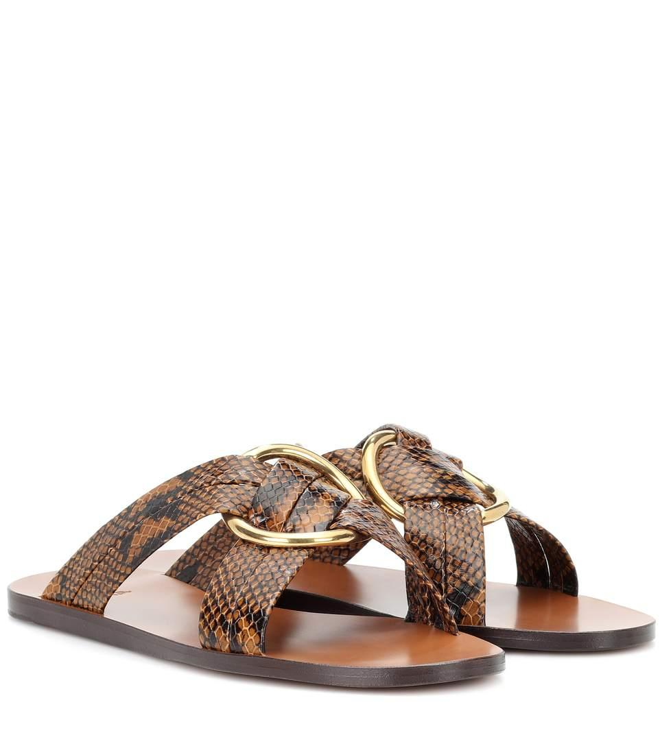 4de93eb5a57 ChloÉ Rony Leather Sandals In Brown
