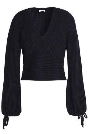 A.L.C Woman Ribbed Merino Wool-Blend Sweater Midnight Blue