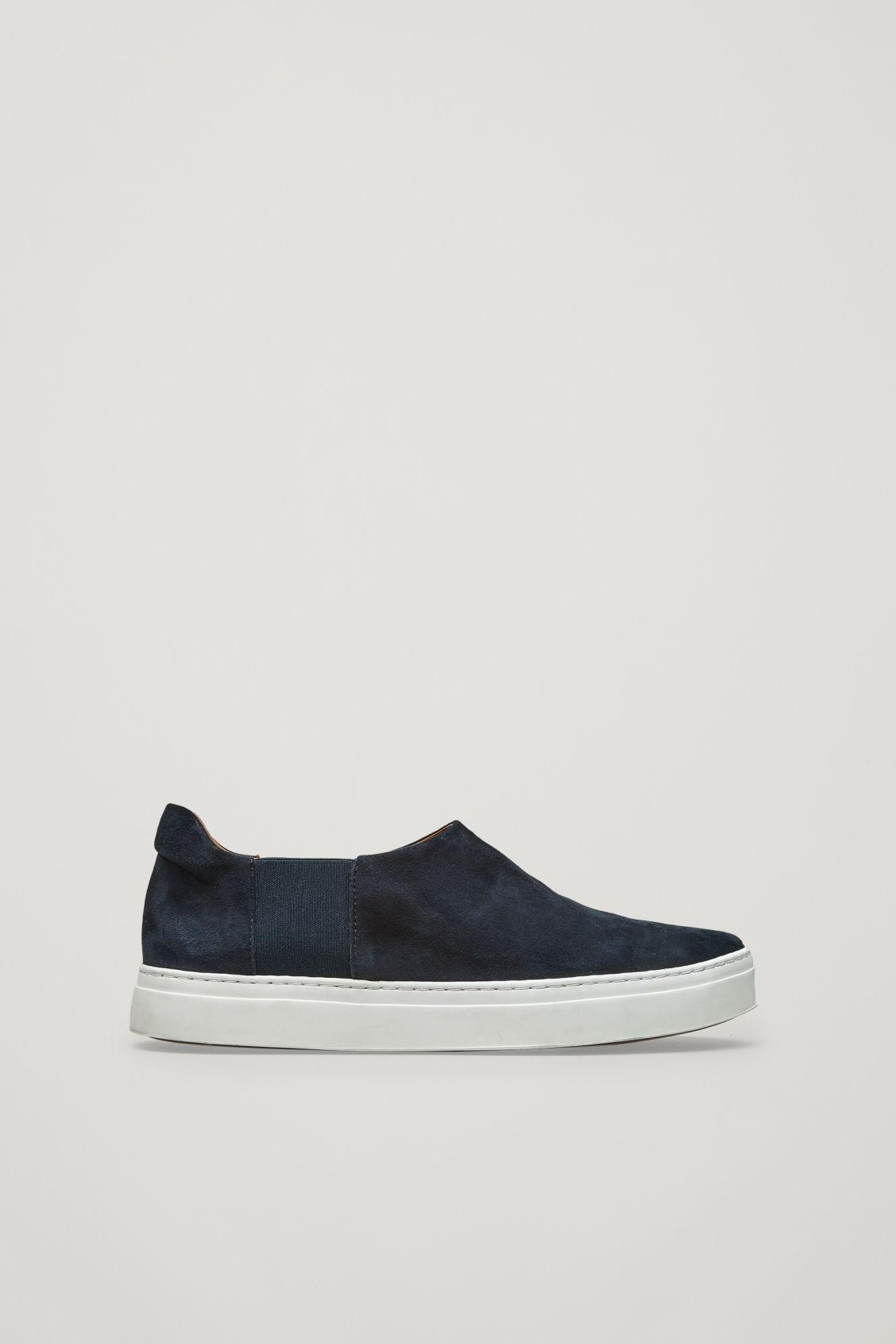 8d40609a135b2 Cos Slip-On Leather Sneakers In Blue
