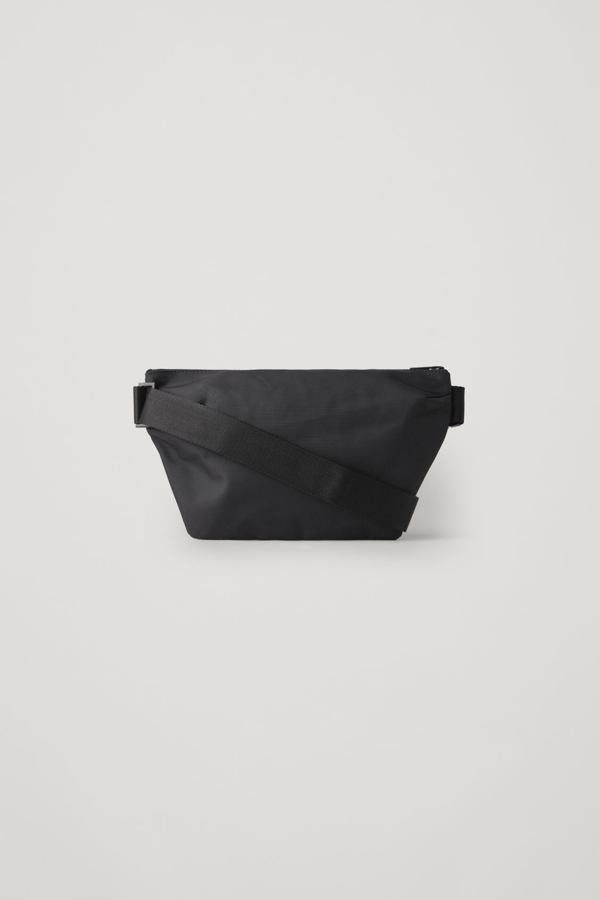 Cos Recycled Technical Belt Bag In Black