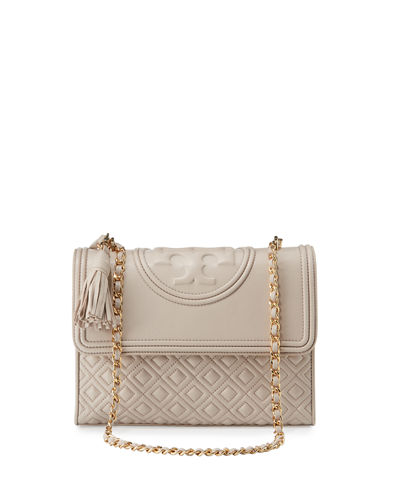 e254a6c658d Tory Burch  Fleming  Convertible Shoulder Bag - Beige In Bedrock ...