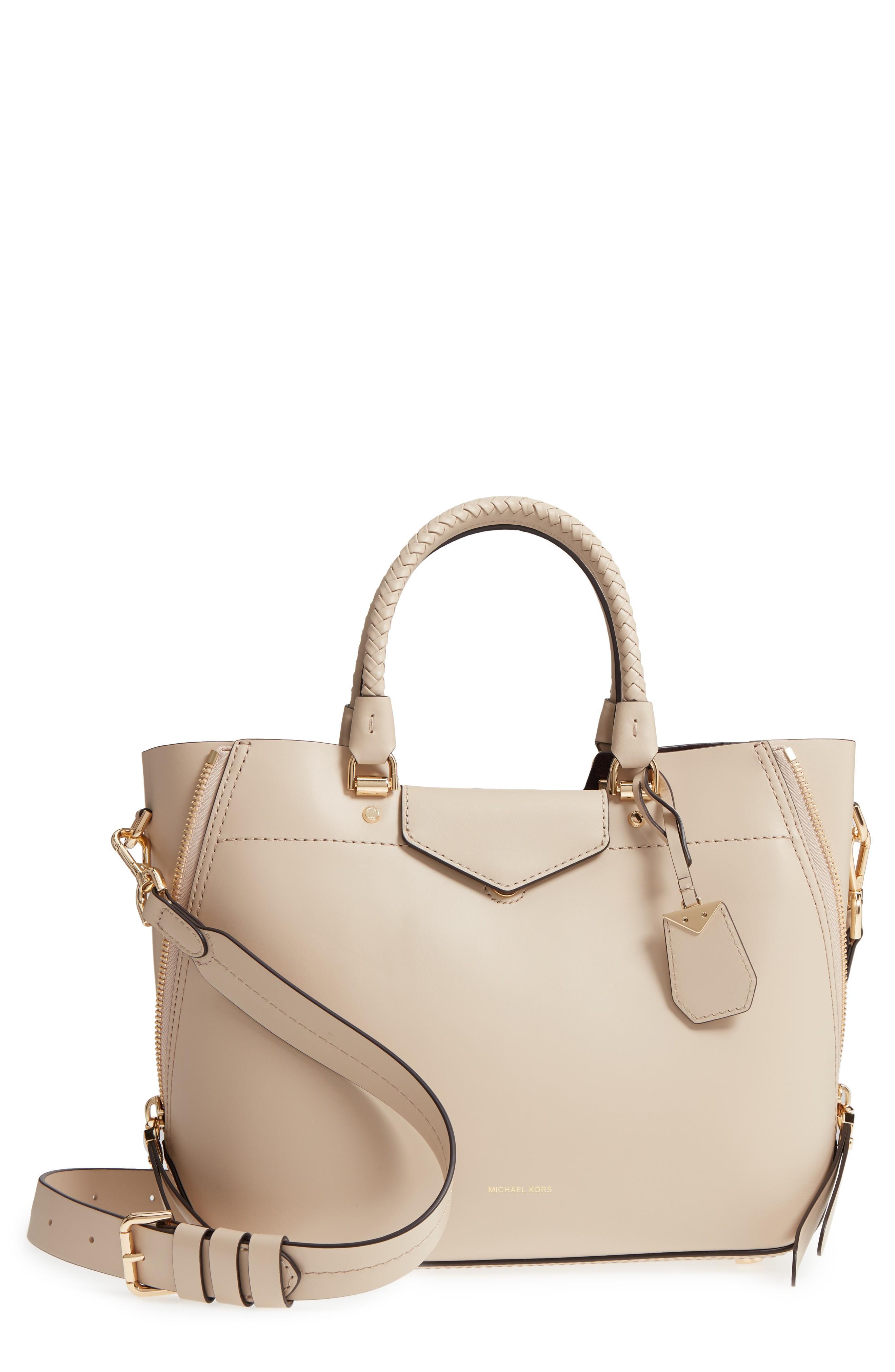 a00c79e39df1 Michael Michael Kors Blakely Medium Leather Tote Bag In Beige | ModeSens
