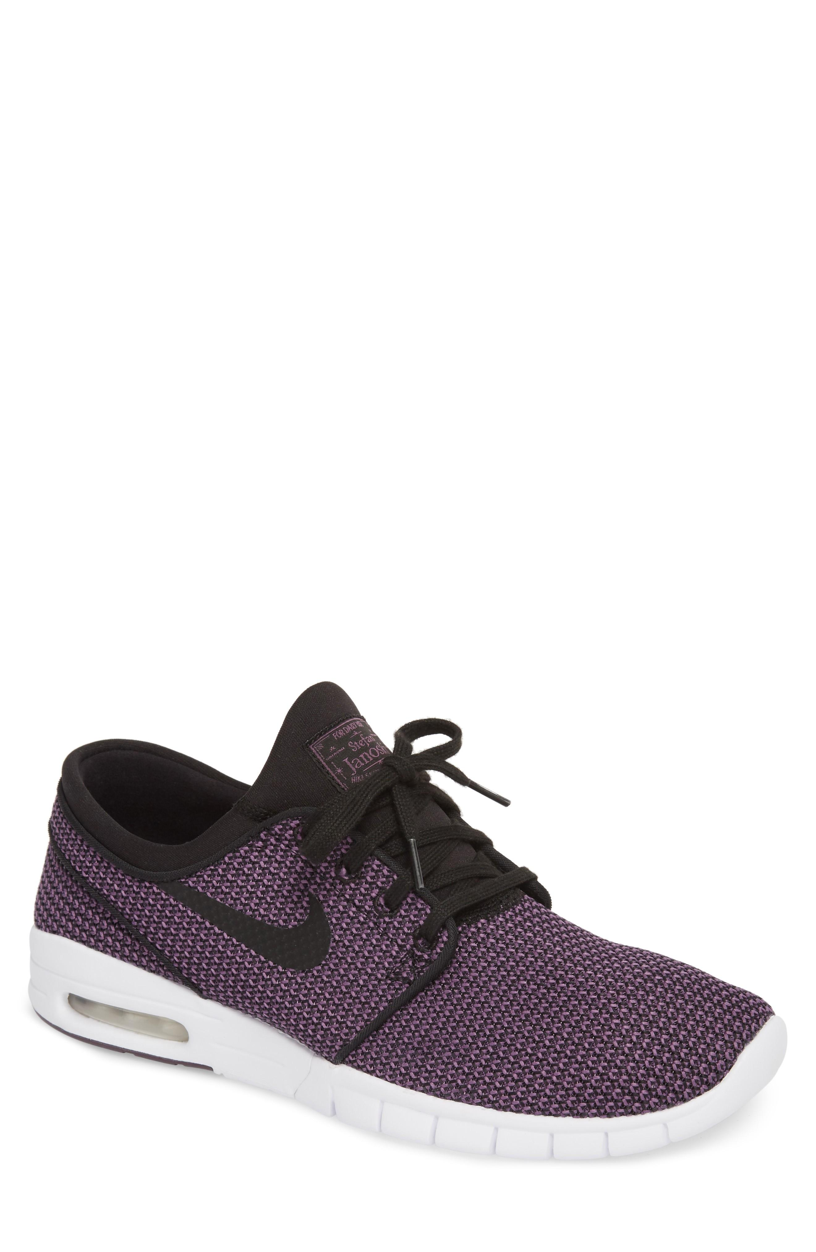 4344021f1420 NIKE.  Stefan Janoski - Max Sb  Skate Shoe in Black  Pro Purple  White