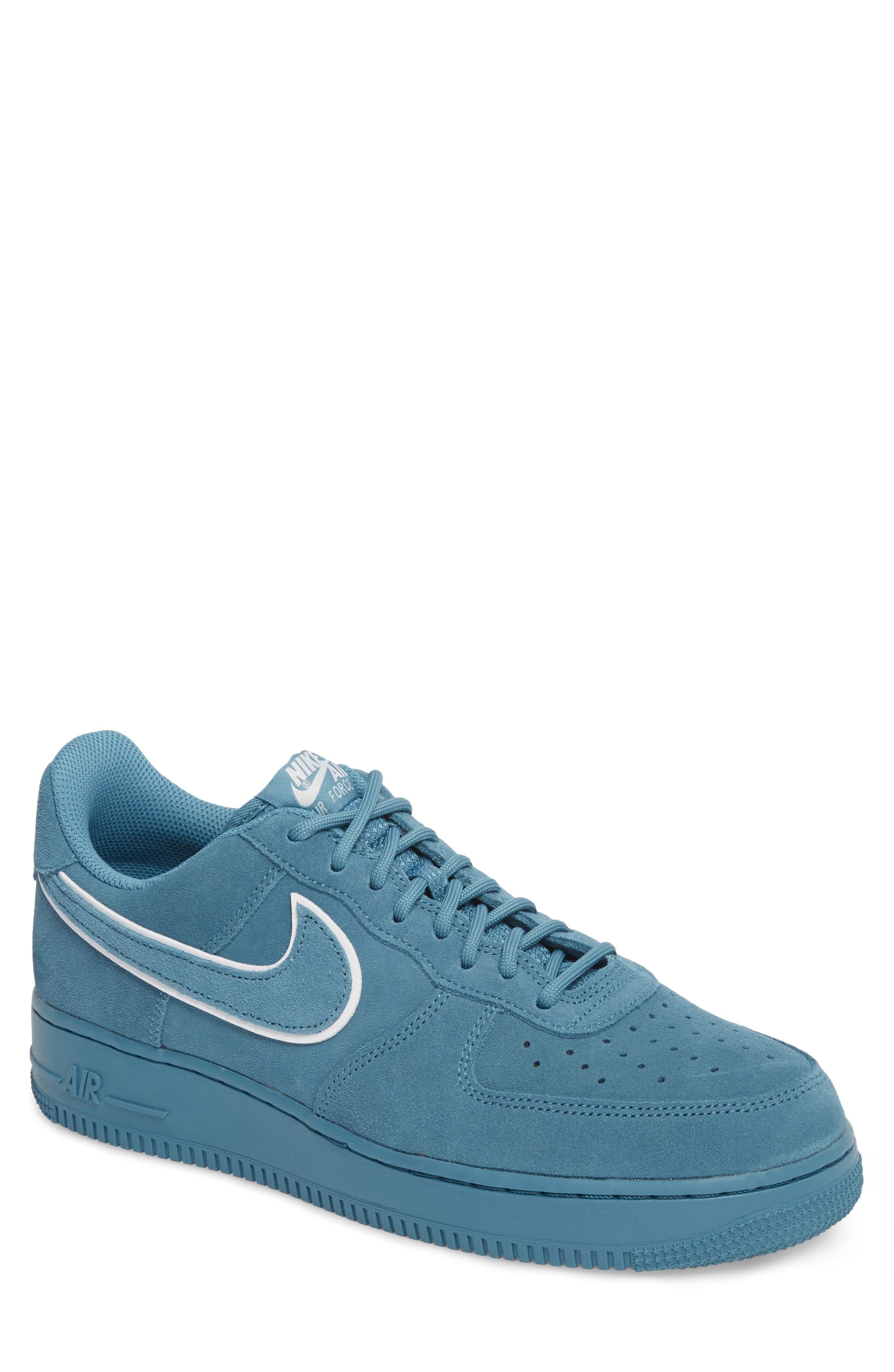 3ce6fd402d8 Nike Air Force 1  07 Low Lv8 Sneaker In Noise Aqua  Blue Force ...