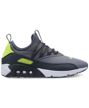 Nike Men's Air Max 90 Ez Casual Sneakers From Finish Line In Cool Grey/Volt-Anthracite