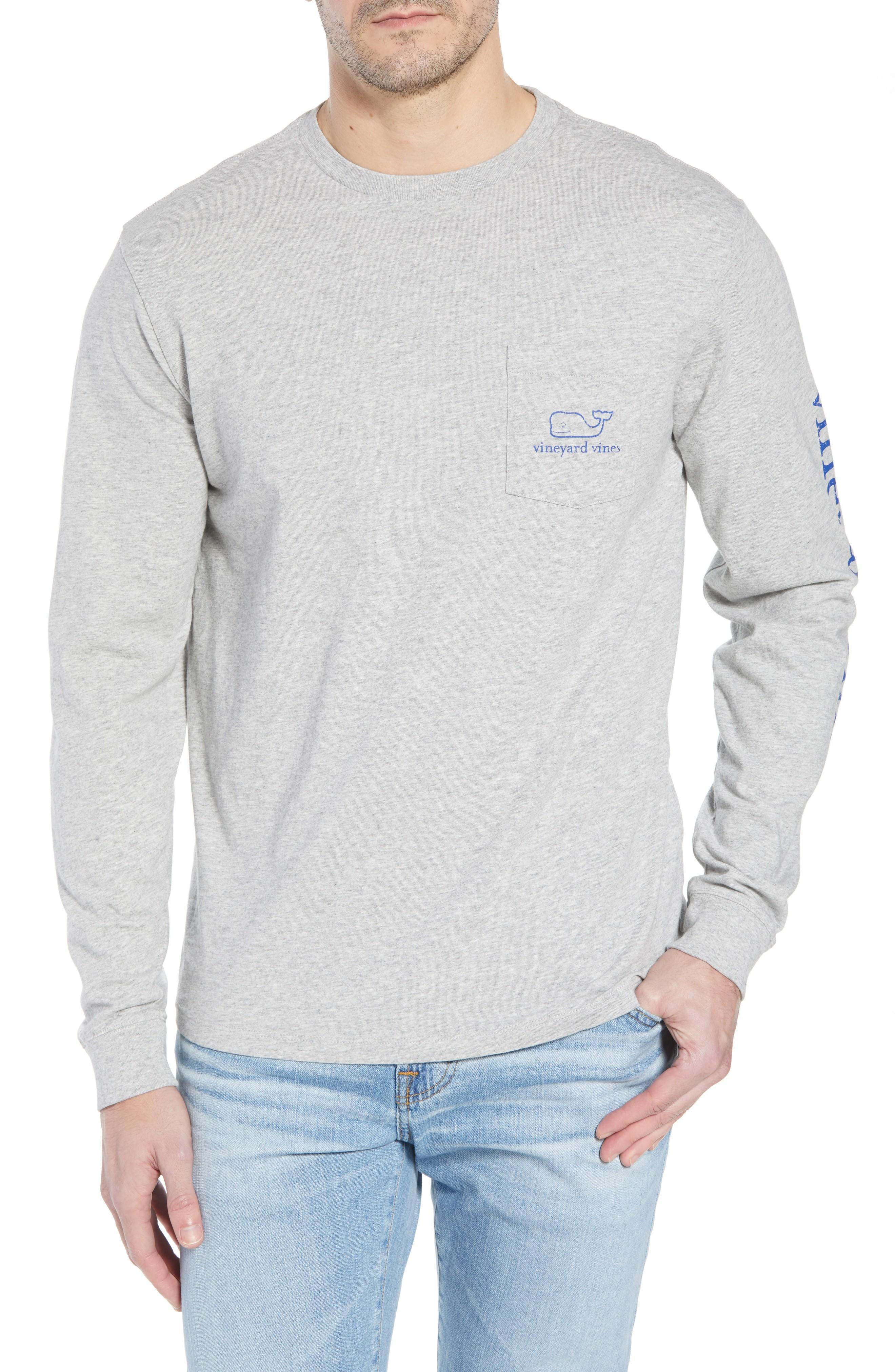 5397a9a49 Vineyard Vines Vintage Whale Graphic Pocket T-Shirt In Grey | ModeSens