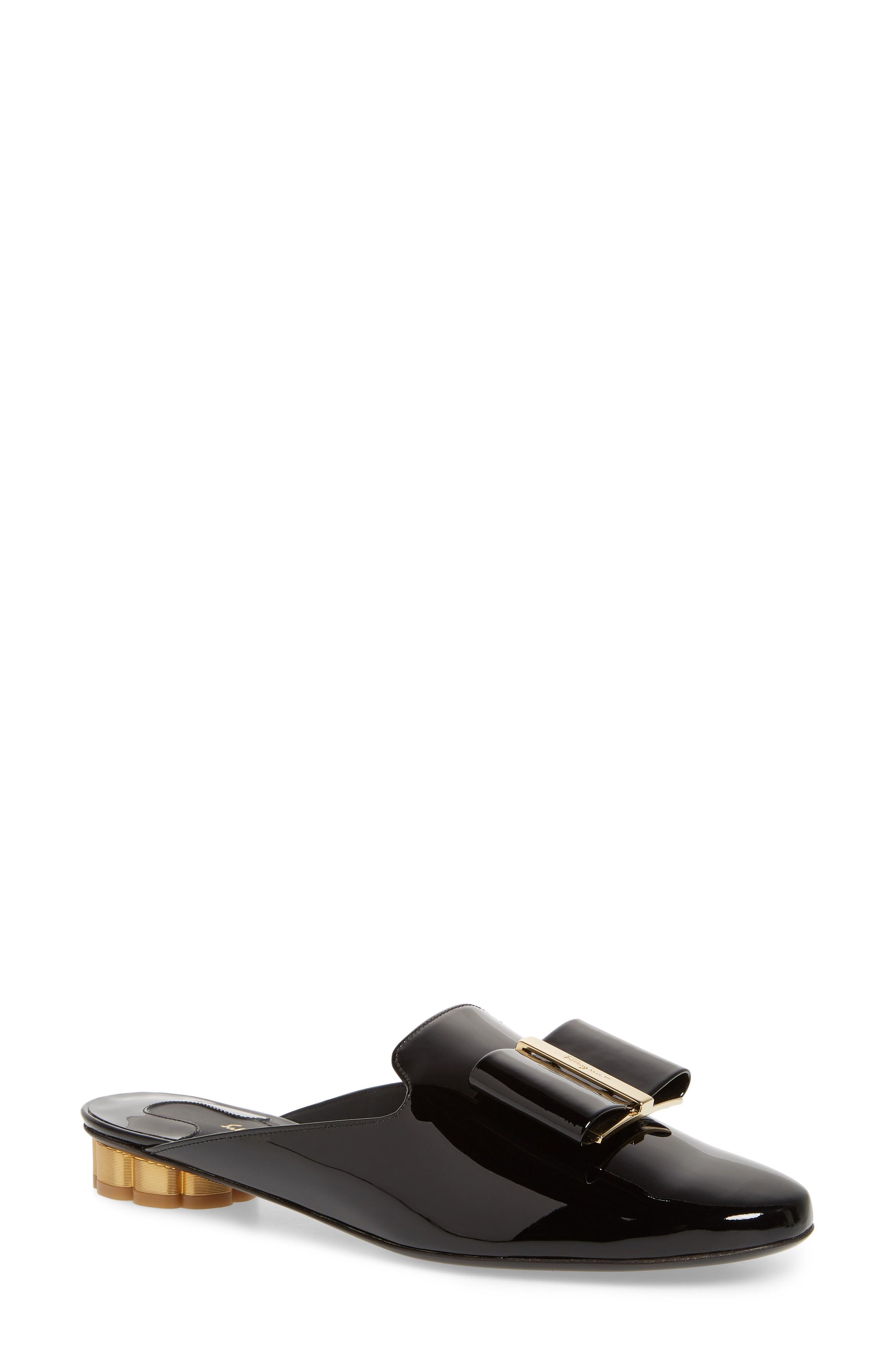 Salvatore Ferragamo Black Sciacca Sliders In Leather