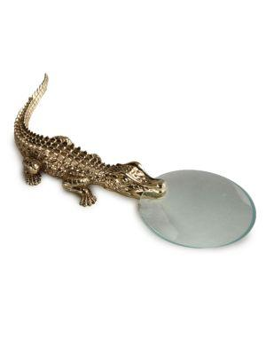 L'objet Crocodile Magnifying Glass In Gold