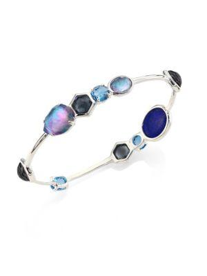 Ippolita Women's Rock Candy® Eclipse Mixed Stone & Sterling Silver Bangle Bracelet In Silver/blue