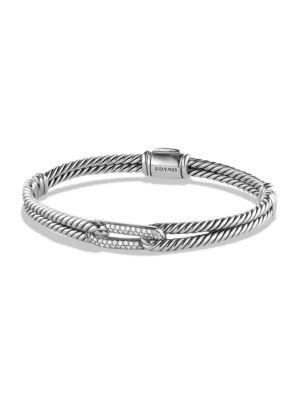David Yurman Petite PavÉ Labyrinth Single-Loop Diamond Bracelet