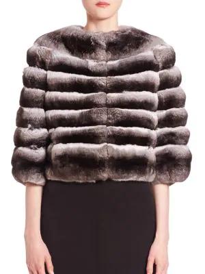 The Fur Salon Women's Chinchilla Fur Bolero In Natural