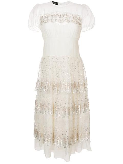 Rochas Sequin Embellished Tiered Dress - Unavailable In White
