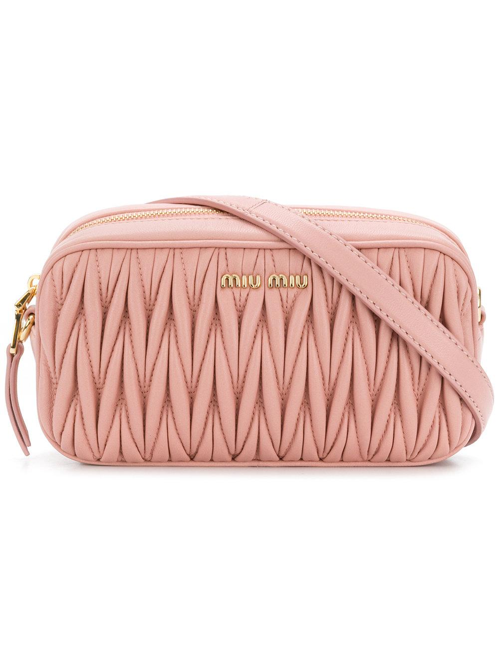 d9f565b68d6 Miu Miu MatelassÉ Belt Bag In Pink