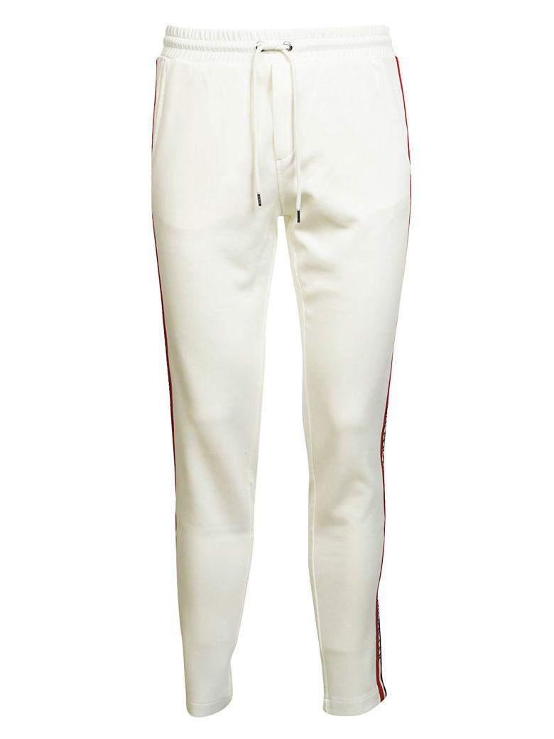 Moncler Side-Stripe Track Trousers In Bianco