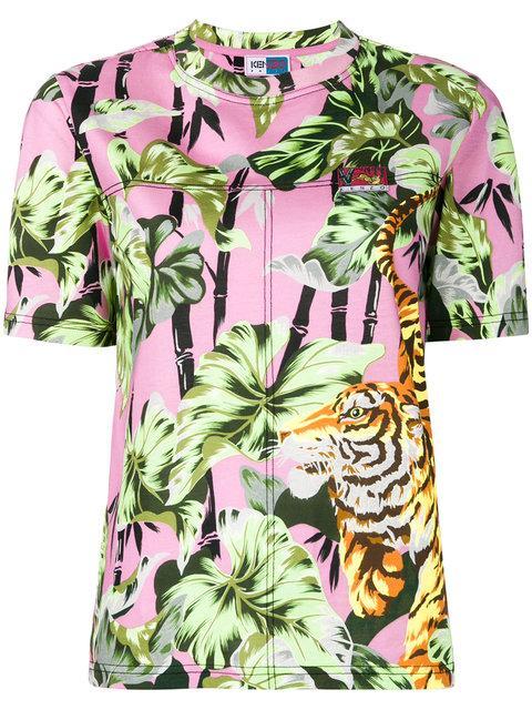 8404a153 Kenzo Grey Tiger Crest Zip Hoodie | ModeSens