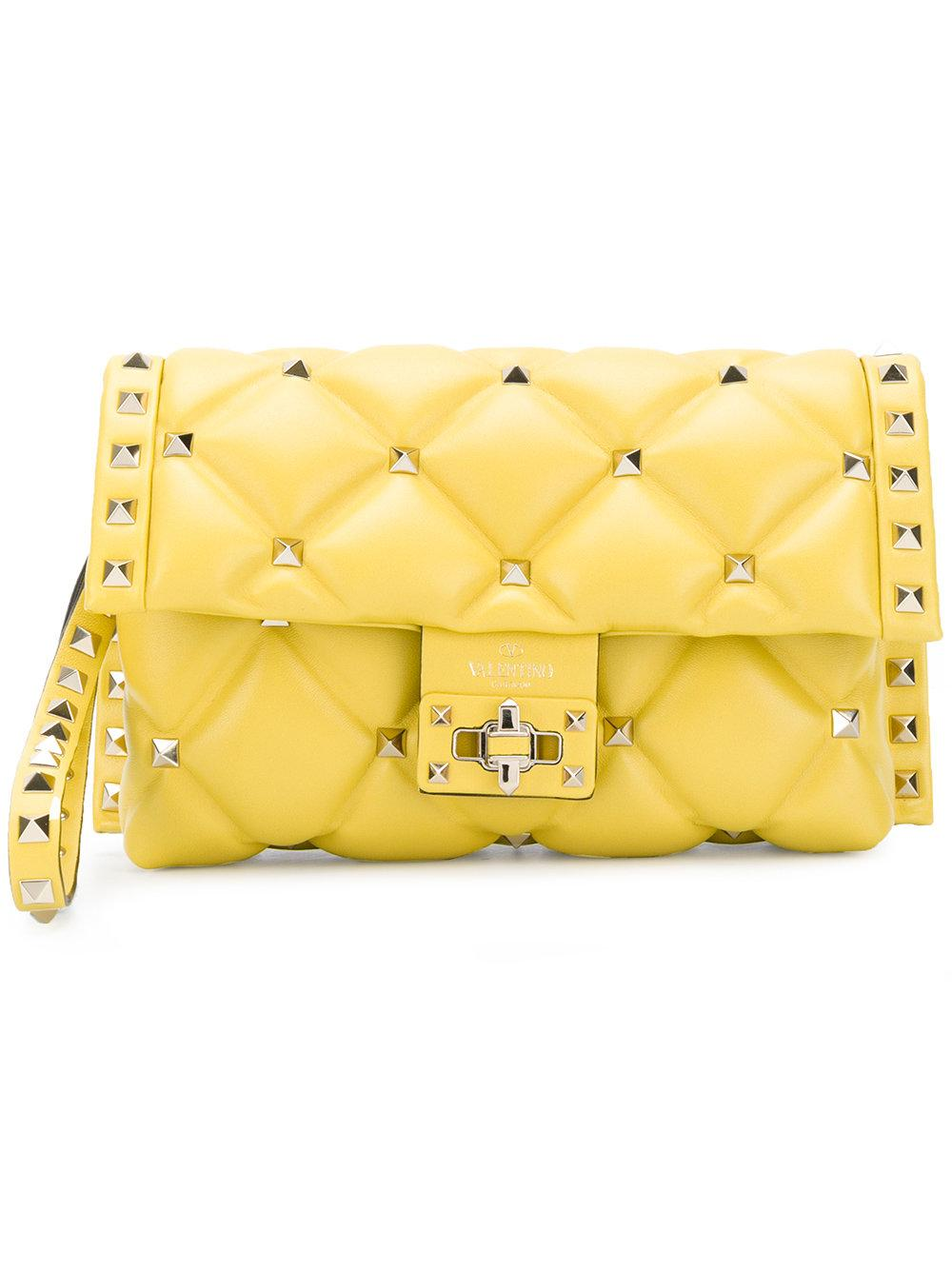183889d005 Valentino Garavani Rockstud Clutch Bag In Yellow & Orange | ModeSens