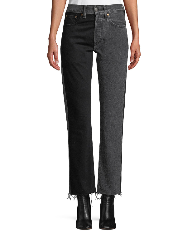882c2ada787a Vetements X Levi s 501 Straight-Leg Two-Tone Cropped Jeans W  Raw ...
