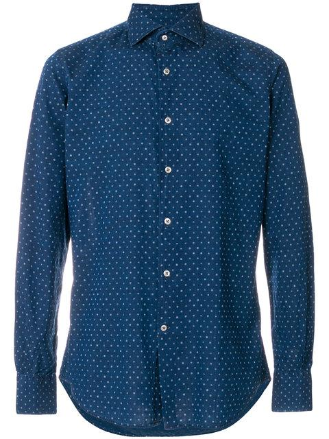 Glanshirt Slim-fit Cotton Shirt - Blue